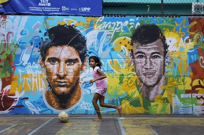 Soccer at Tavares Bastos slum