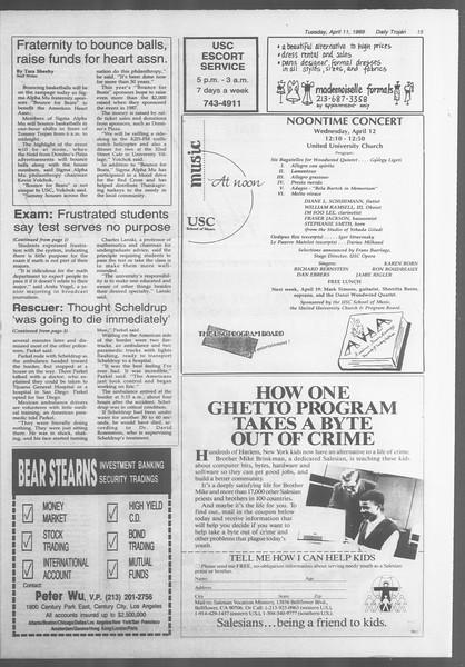 Daily Trojan, Vol. 108, No. 55, April 11, 1989