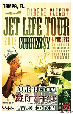 Curren$y's Jet Life Tour June 12, 2012