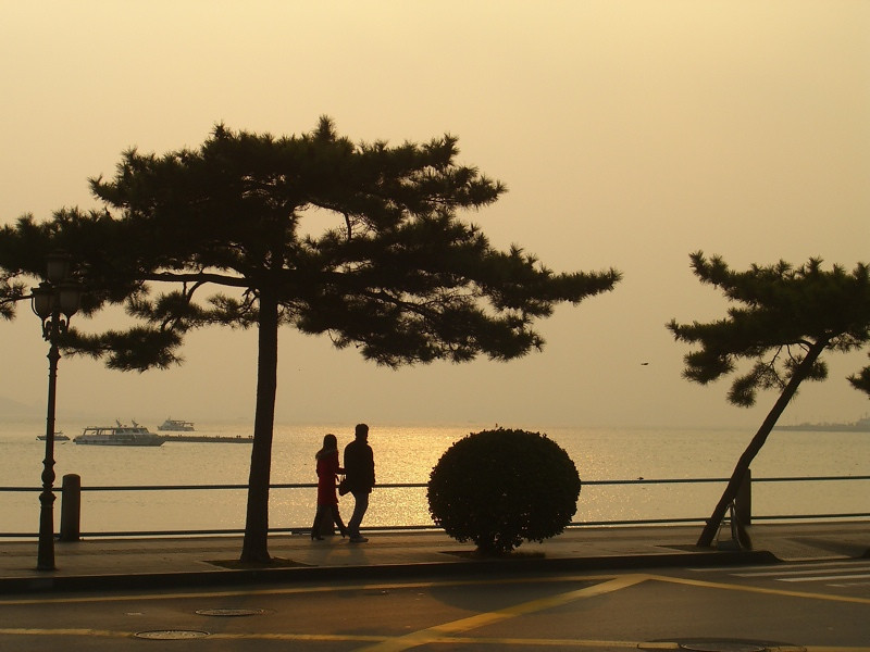 Evening Walk Along Coastline - Qingdao, China