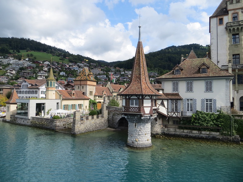 Donna Friedman - Sailing from Interlaken to Thun on Lake Thun. Fairy tale architecture and crystal clear spring waters.