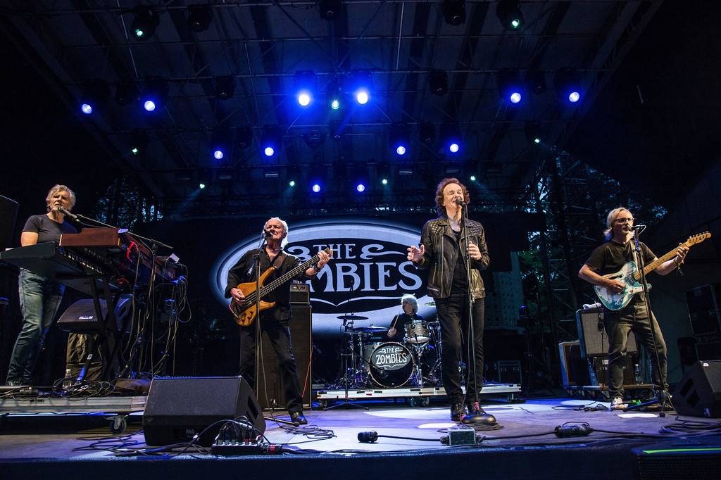 . Rod Argent, from left, Jim Rodford, Steve Rodford, Colin Blunstone and Tom Toomey of The Zombies perform during the Festival d\'ete de Quebec on Thursday, July 6, 2017, in Quebec City, Canada. The Zombies perform at the Kent Stage on March 24. For more information, visit www.thekentstage.com/event/1573805-zombies-kent.  (Photo by Amy Harris/Invision/AP)