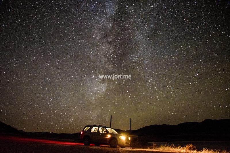 A car under the stars