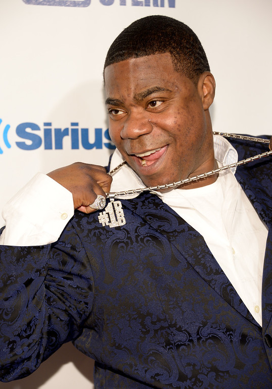 """. Tracy Morgan attends \""""Howard Stern\'s Birthday Bash\"""", presented by SiriusXM, at the Hammerstein Ballroom on Friday, Jan. 31, 2014 in New York.  (Photo by Evan Agostini/Invision/AP)"""