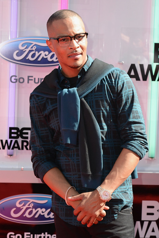 . Rapper T.I. attends the BET AWARDS \'14 at Nokia Theatre L.A. LIVE on June 29, 2014 in Los Angeles, California.  (Photo by Earl Gibson III/Getty Images for BET)