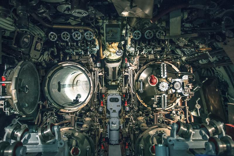 Submarine torpedo bays.