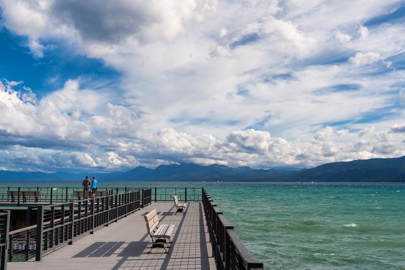 View of Lake Tahoe from Tahoe City pier