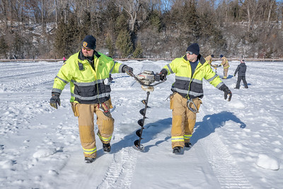 CFD Chaska Fire Department Ice Fishing contest 2-8-2020