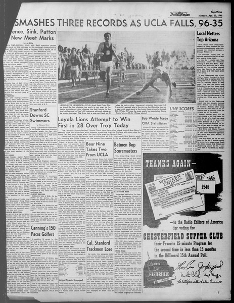 Daily Trojan, Vol. 37, No. 111, April 22, 1946