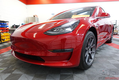 Tesla Model 3 - Red Multi-Coat 3