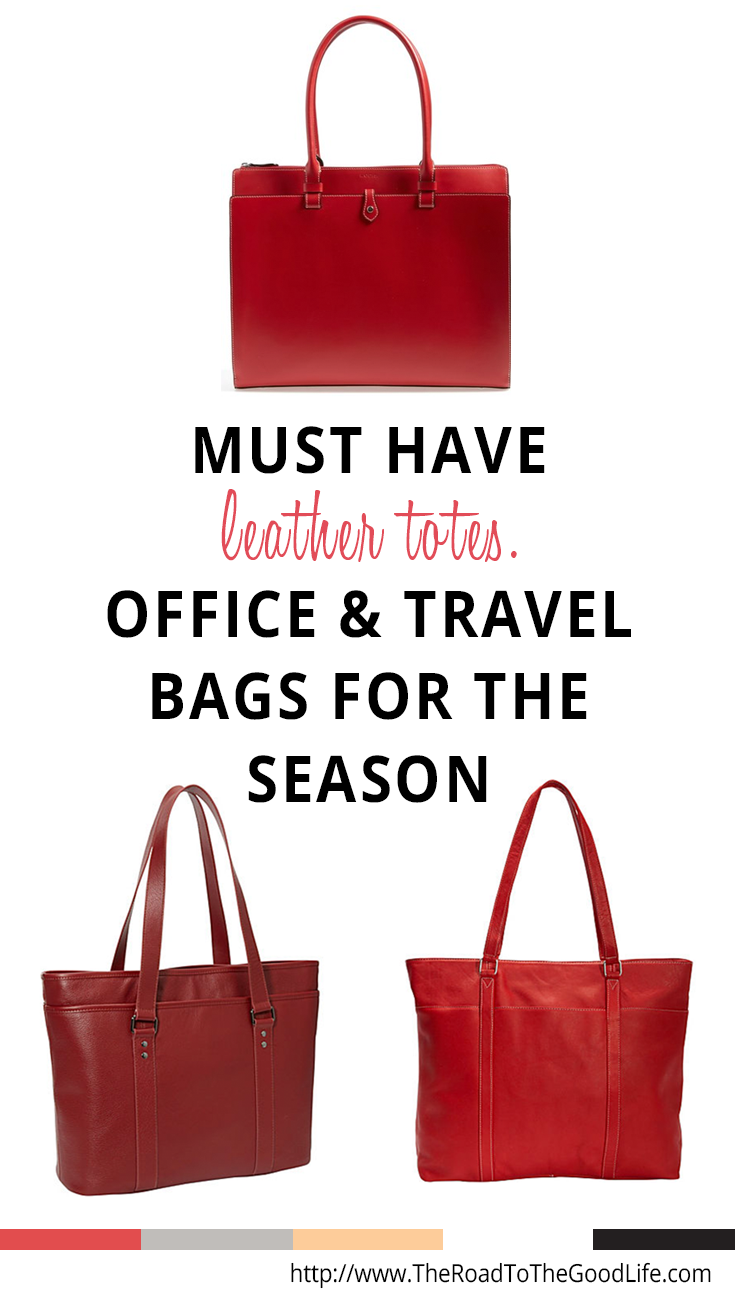 Must Have Leather Totes for the Office and For Travel that are Large Enough to Comfortably Fit a MacBook Pro 15 Retina