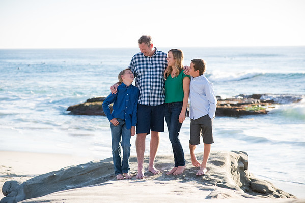 AM 92037 Family Portraits La Jolla Beach Sunset