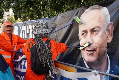 20210208 Netanyahu Corruption Trial in Jerusalem
