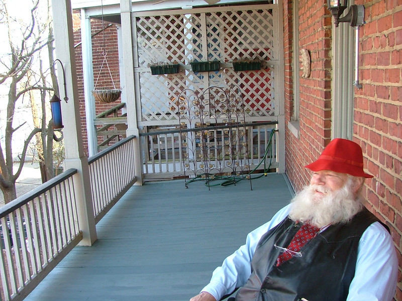 Al on backporch at 1848