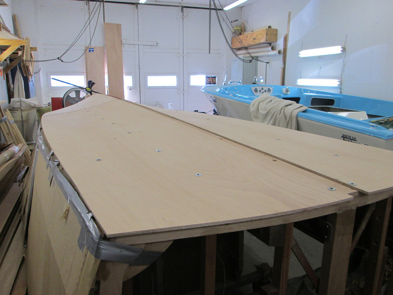 Rear view of starboard plywood fit.