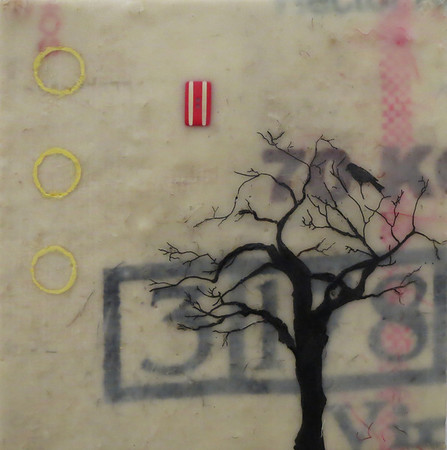 "Coffee and Tree, 2013, 12"" x 12"" (available)"