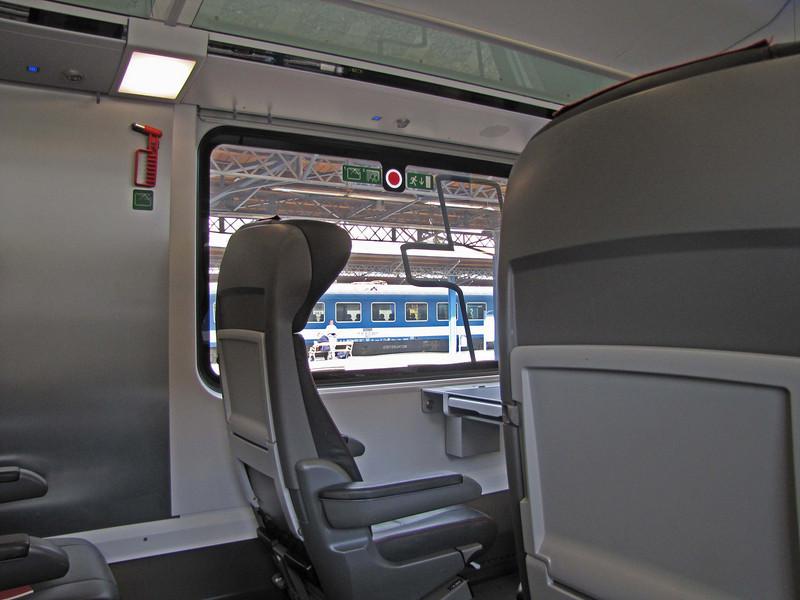 Railjet, my view of the Budapest Keleti station