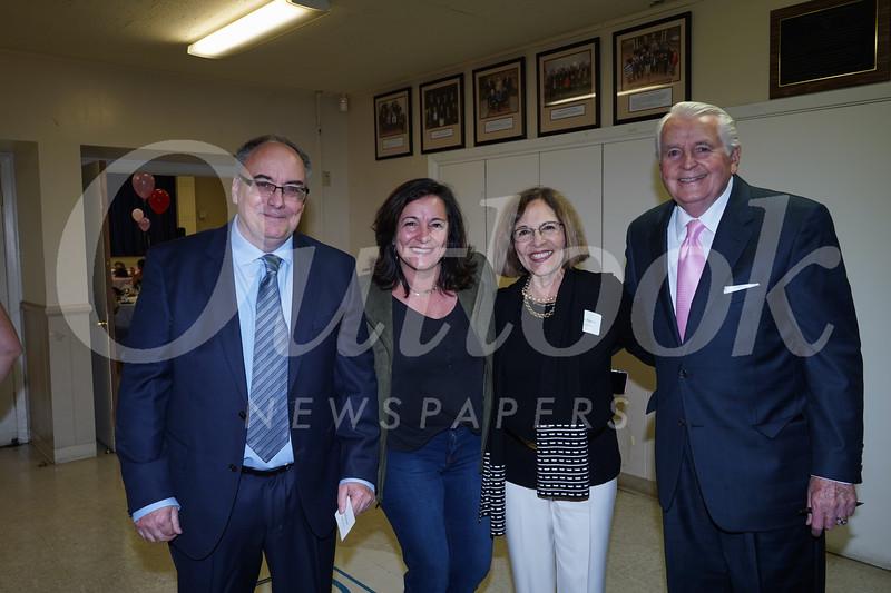 Kelly Ryan, Nicolette Fuerst, and Sophia and Jim Angelos