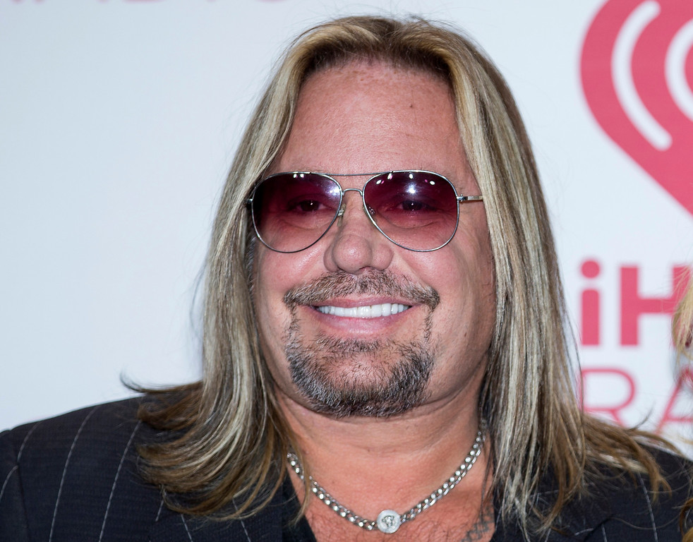 . Vince Neil of Motley Crue will perform Jan. 12 at the Hard Rock Rocksino at Northfield Park. For more information, visit www.hrrocksinonorthfieldpark.com.  (Photo by Andrew Estey/Invision/AP, File)