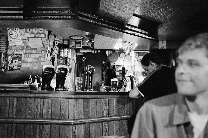 the bar and me