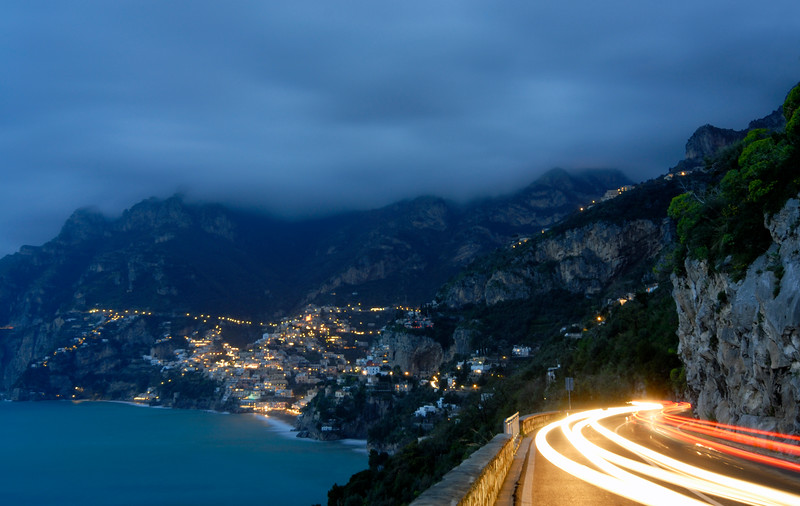 Town of Positano By Night, Amalfi Coast (Italy)