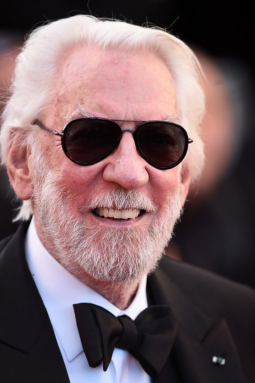 ". Jury member Donald Sutherland attends the ""The Last Face\"" premiere during the 69th annual Cannes Film Festival at the Palais des Festivals on May 20, 2016 in Cannes, France.  (Photo by Ian Gavan/Getty Images)"