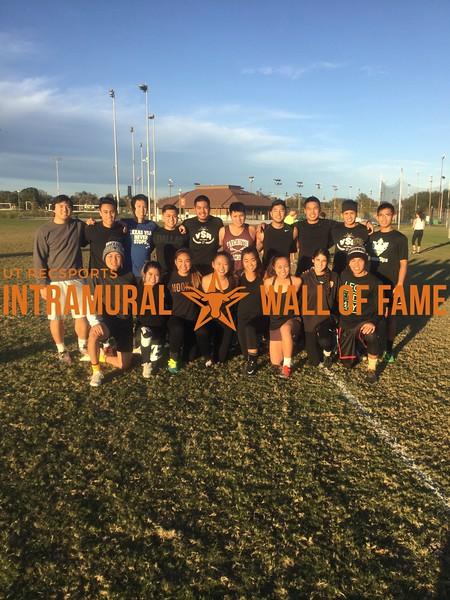 Fall 2017 Flag Football Coed A Champion Ohana