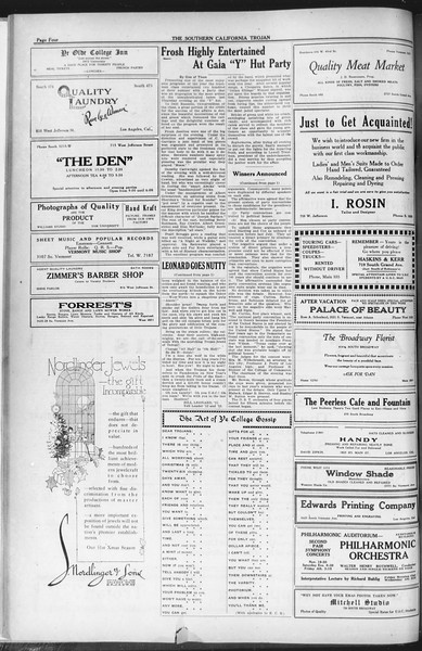 The Southern California Trojan, Vol. 12, No. 32, November 23, 1920