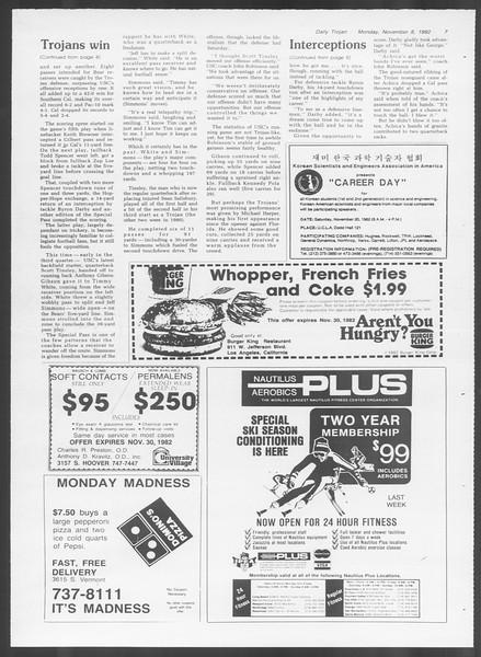 Daily Trojan, Vol. 92, No. 44, November 08, 1982