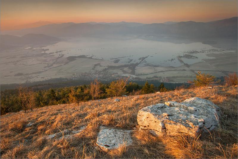 Cerkniško Lake seen from Mt. Slivnica
