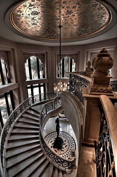 Spiral Staircase-Leela Palace Hotel-Bangalore India