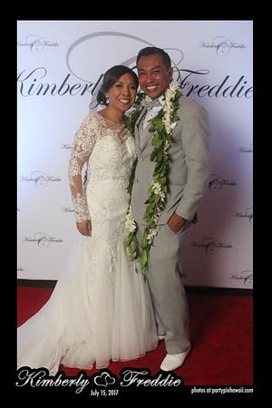Freddie & Kimberly's Wedding (Red Carpet Wall)