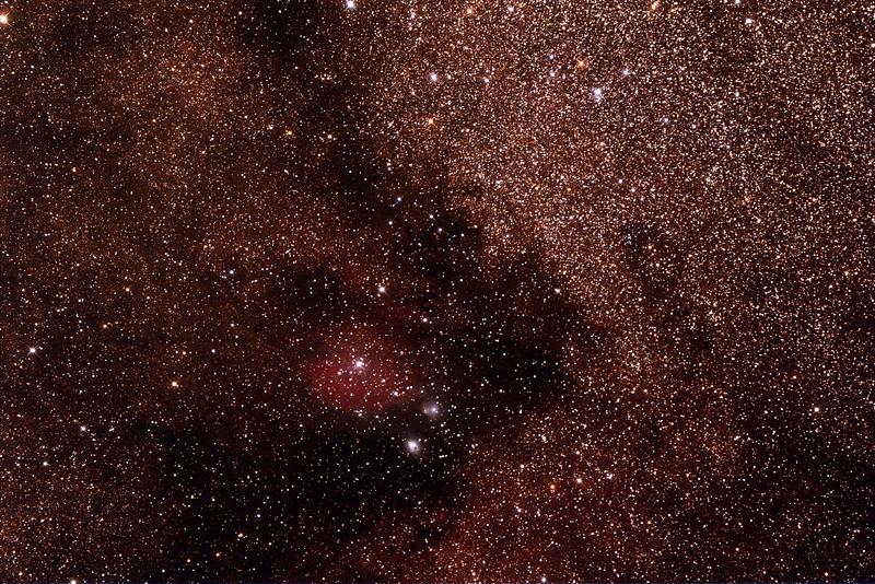 IC1283-4 - Gum 78 - Nebula in Sagittarius with NGC6589-90 Reflection Nebulae - 25/9/2014 (Processed stack)