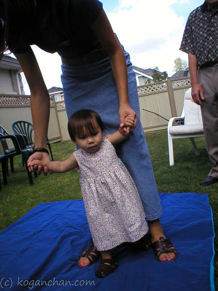 saskia's first birthday august 2003
