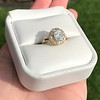 1.97ctw Antique Cluster Ring, GIA G SI2 21