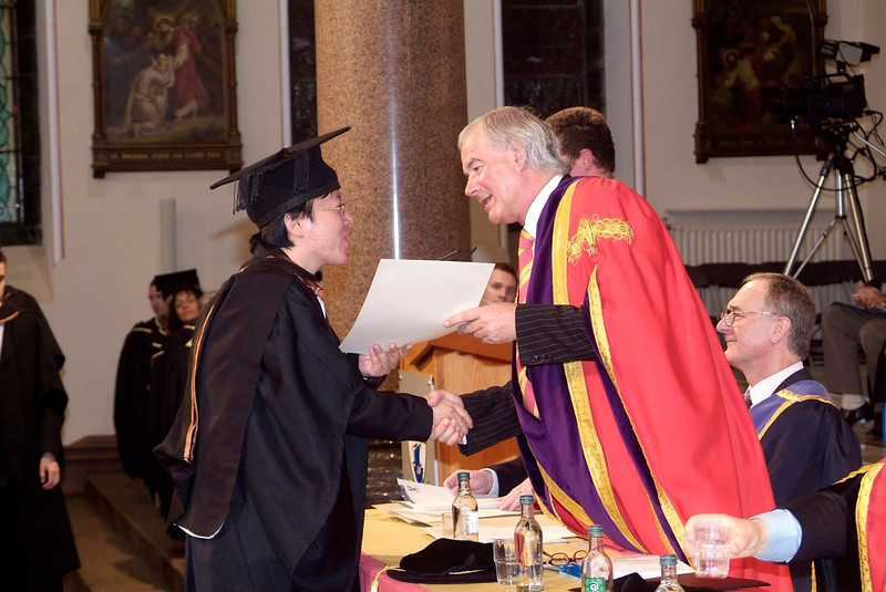 Guiyeom Kang, The Glen, Waterford, receives her Bachelor of Engineering (Hons) in Electronic Engineering from Prof. Kieran R.Byrne at Waterford Institute of Technology. (pic-photozone)