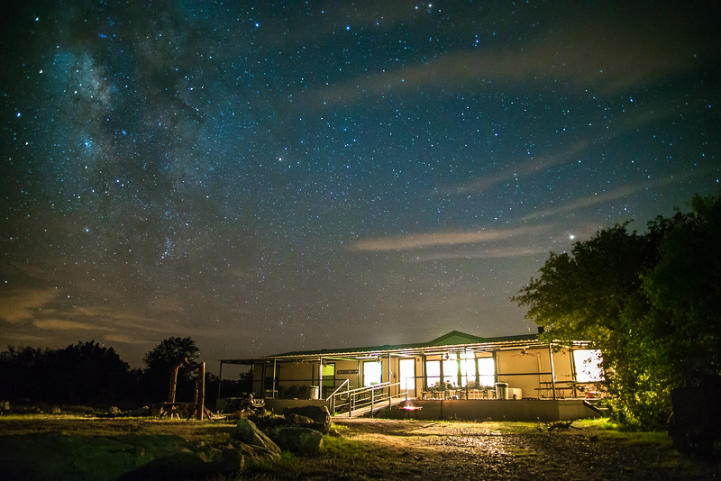 Galaxy over camp