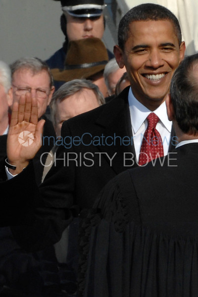 President Barack Obama swears in as the 44th President of The United States.