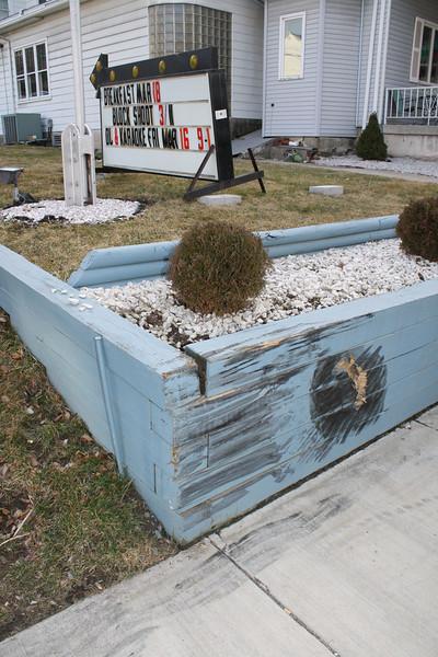 Meter Driven Over, Blue Wall Damaged, American Legion, Tamaqua (3-4-2012)