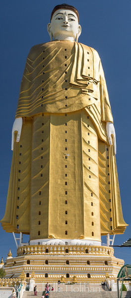 The world's second tallest Buddha statue at the Laykyun Sekkya Shrine in Monywa, Myanmar