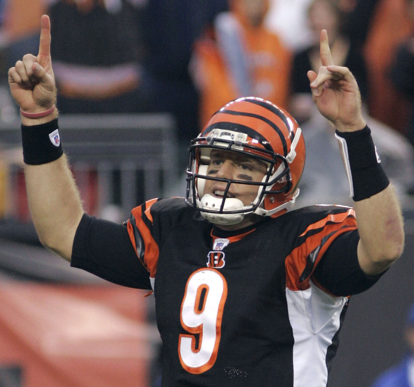 . Carson Palmer, USC Selected first overall by the Bengals in 2003 Since earning back-to-back Pro Bowl nods in 2005 and �06, Palmer�s career has started to fizzle. The Bengals and Raiders are 29-47 in games he has started since then, including a 12-28 record the last three seasons. Palmer also briefly retired following the 2010 season before being dealt to the Raiders, where he has thrown 35 touchdowns and 30 interceptions in 24 starts. GRADE: C-. For a second, he looked like a stud. It was a brief second, though. (AP Photo/Al Behrman)