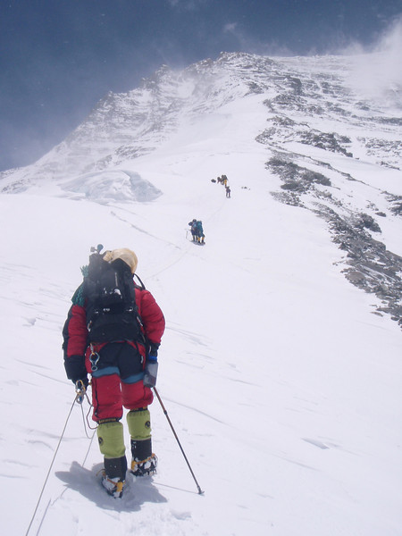Everest North Ridge is in front of us
