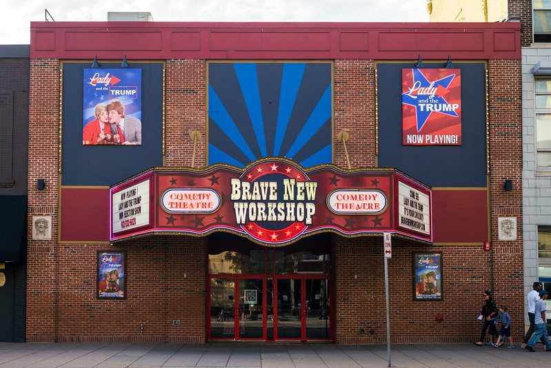 Facade of Brave New Workshop Comedy Theater, Minneapolis, Hennepin County, Minnesota, USA