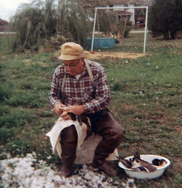 Dad picking Ducks.JPG