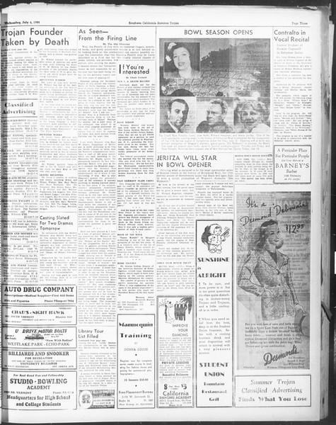 Summer Trojan, Vol. 17, No. 5, July 06, 1938