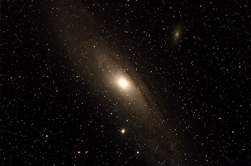 Messier M31 - NGC224 - Andromeda Galaxy with M110 and M32 satellite Galaxies