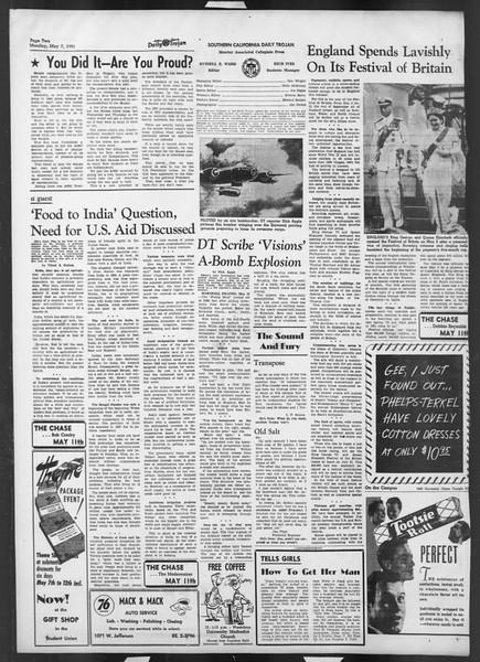 Daily Trojan, Vol. 42, No. 124, May 07, 1951