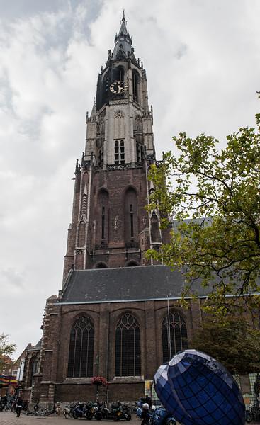 Nieuwe Kerk and Blue Heart of Delft
