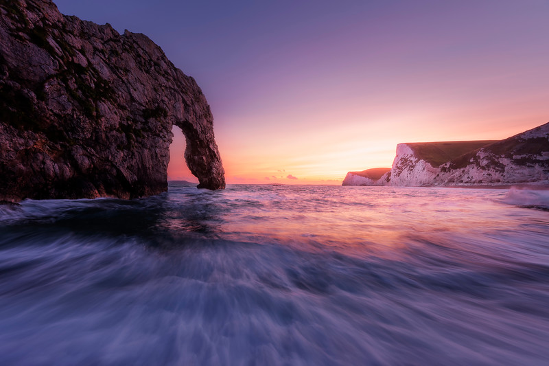 Durdle Door southern england sunset 2 long exposure jurassic coast.jpg