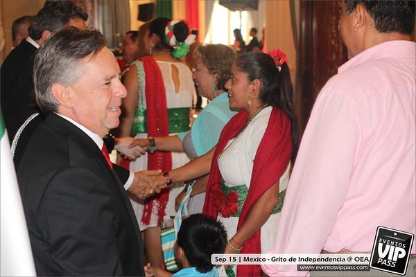 Celebración del Grito de la Independencia de Mexico @ OEA | Sun, Sep 15
